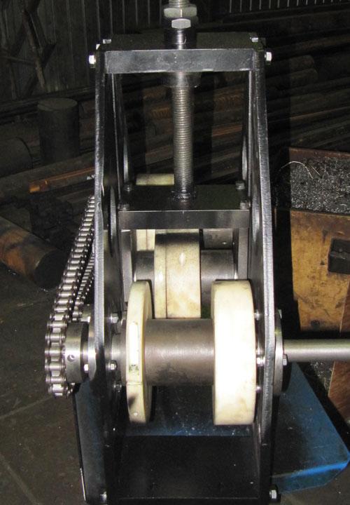 Ролики профилегиба ПГМ-6 со специальными увеличенными стопорными кольцами из капролона для гибки оконного профиля
